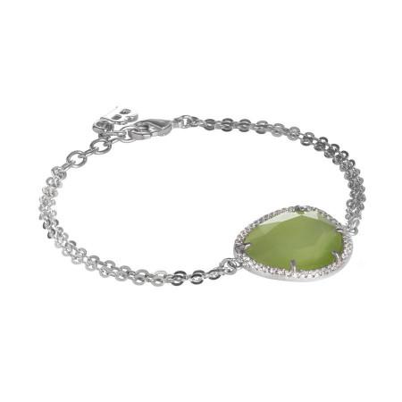 Bracciale con cristallo sfaccettato olivine