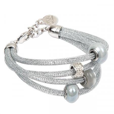 Bracciale tubolare color argento