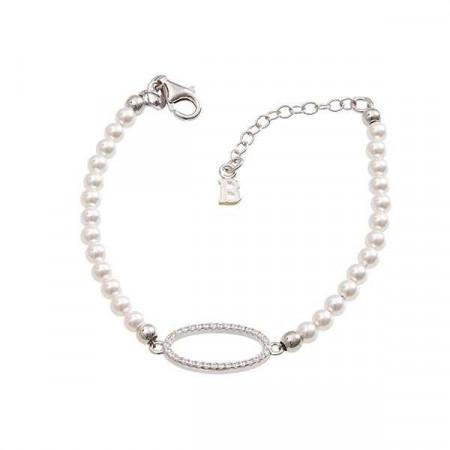 Bracciale di perle Swarovski e zirconi