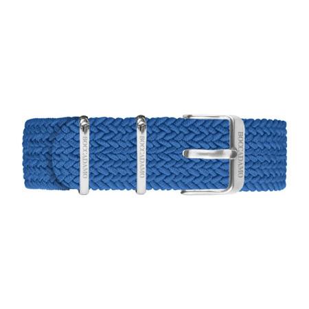 Cinturino in nylon Perlon blu denim