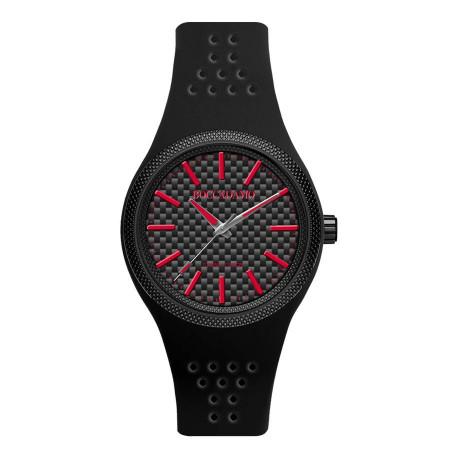 Orologio in silicone anallergico con indici e lancette rosse