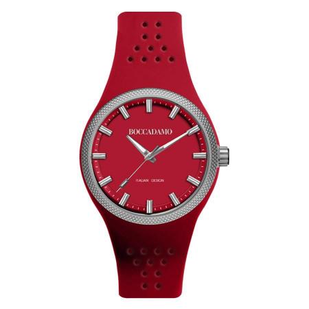 Orologio in silicone anallergico con quadrante e cinturino rosso