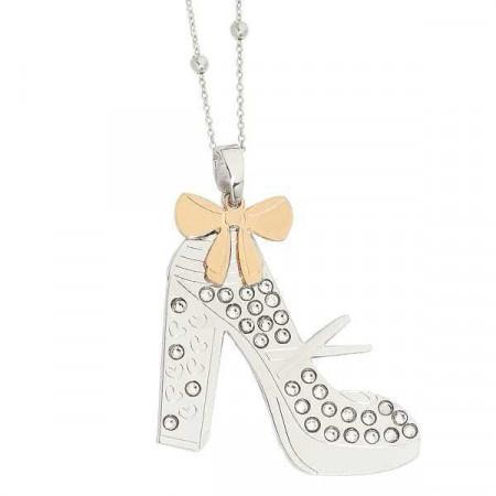 Collana con scarpa modello Mary Jane pendente e Swarovski