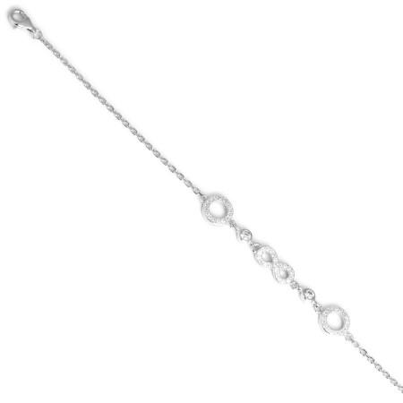 Bracciale in argento con nodo infinito di zirconi
