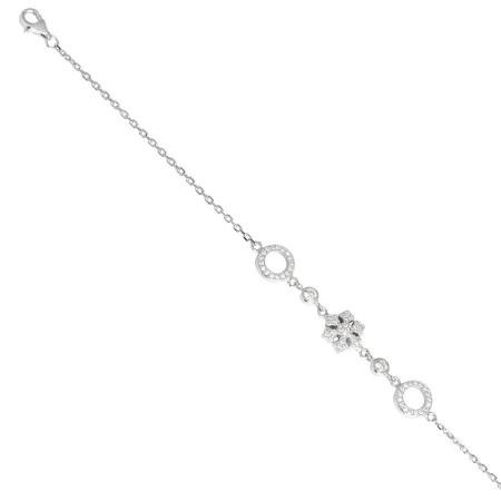 Bracciale in argento con fiocco di neve e zirconi