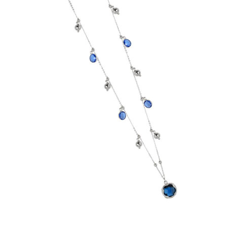 Collana con cristalli sapphire e blue london