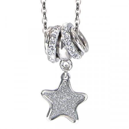 Collana con pendente glitterato a stella