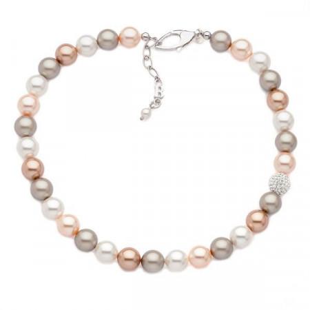 Collana in argento e perle Swarovski