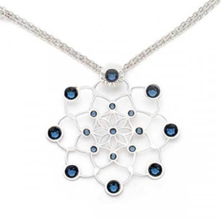 Collana (doppia lunghezza) in argento e cristalli Swarovski