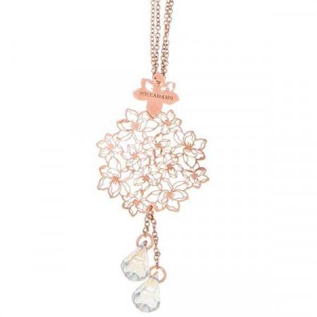 Collana in argento rosato con Swarovski crystal