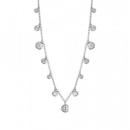 Collana con pendenti degradè di zirconi taglio diamante