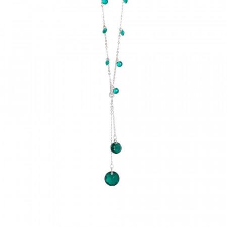 Collana con zirconi color smeraldo e Swarovski emerald