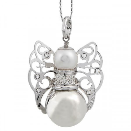 Collana con cherubino sonoro e Swarovski crystal