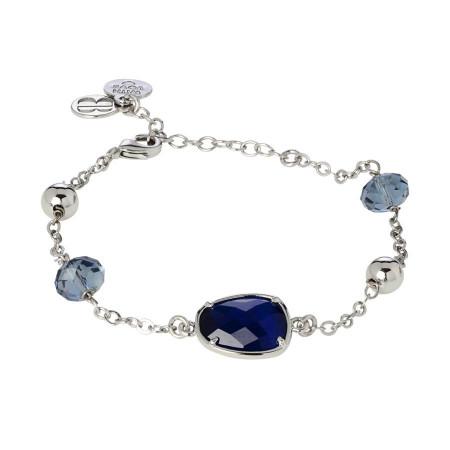 Bracciale con cristalli Swarovski blue denim e centrale zaffiro