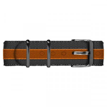 Cinturino in nylon grigio ed arancione