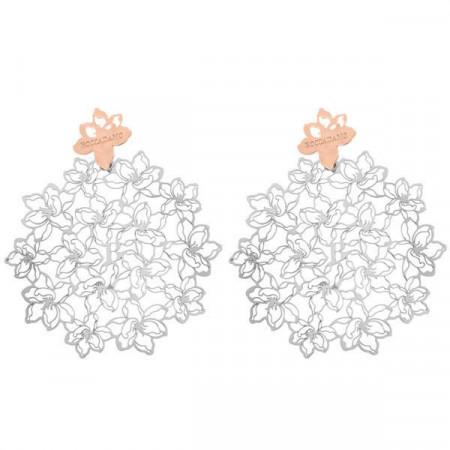 Orecchini in argento bicolor