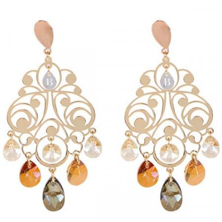 Orecchini chandelier in argento e cristalli Swarovski