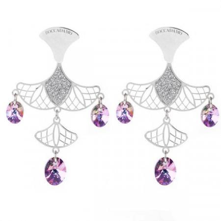 Orecchini chandelier in argento e Swarovski