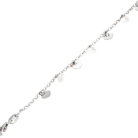 Bracciale in argento con zirconi rosa e charms