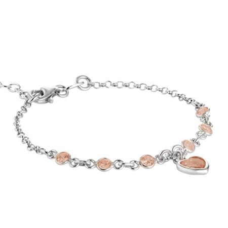Bracciale in argento con zirconi arancione