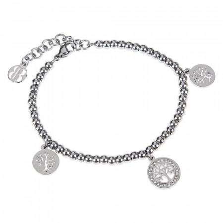 Bracciale bead con charm a forma di albero della vita