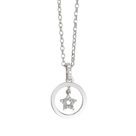 Collana con ciondolo in zirconi a forma di stella