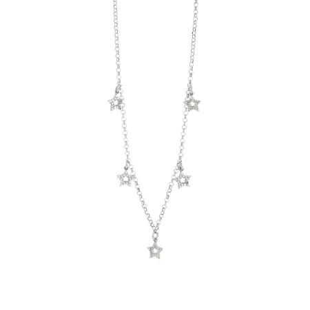Collana con ciondoli a forma di stella in zirconi