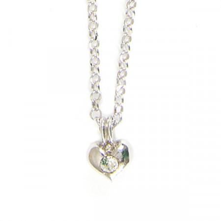 Collana in argento con cuore, boules e cristalli boreali