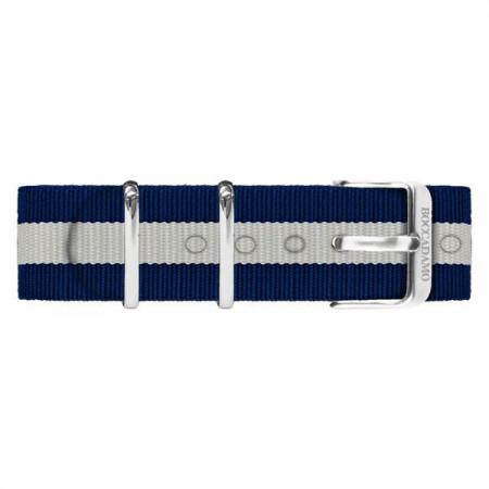 Cinturino in nylon blu e bianco