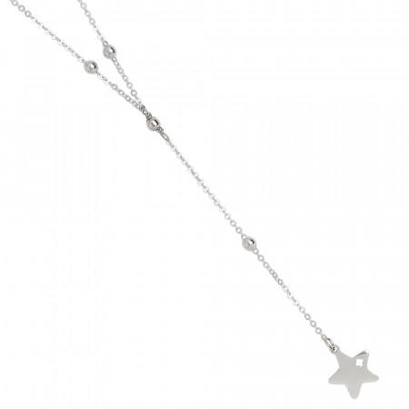 Collana a Y con stella pendente