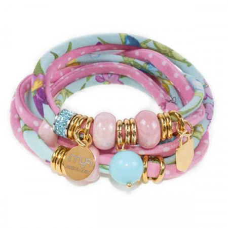 Bracciale in lycra trendy color rosa