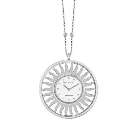 Collana-orologio in bronzo rodiato