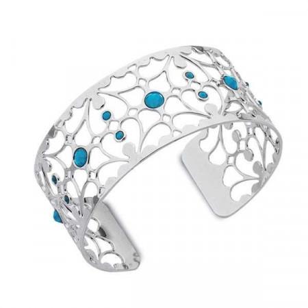 Bracciale in bronzo e cristalli Swarovski blu caraibico