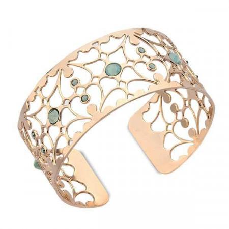 Bracciale in bronzo e cristalli Swarovski verde opale