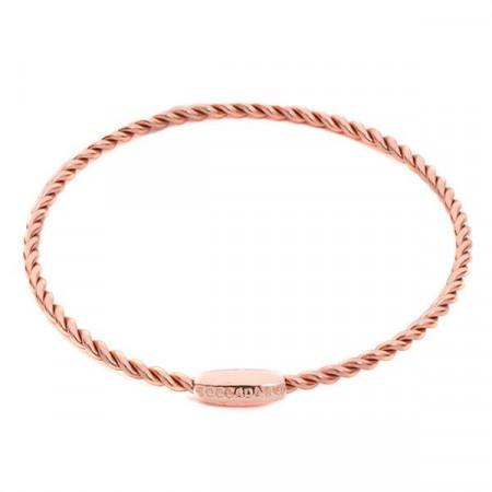 Bracciale rigido placcato oro rosa con effetto torchon