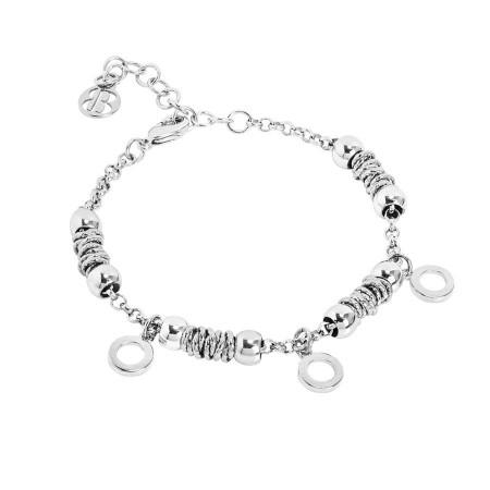 Bracciale beads con cerchi lisci
