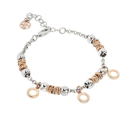 Bracciale beads con cerchi rosati