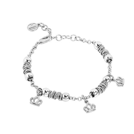 Bracciale beads con corone lisce