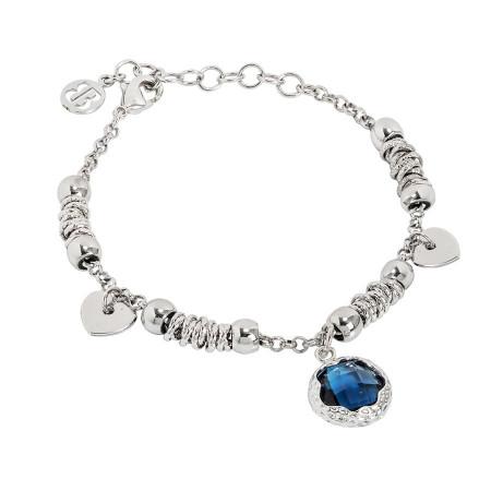 Bracciale con cristallo sfaccettato blu London
