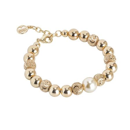 Bracciale con perla Swarovski light gold
