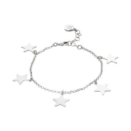 Bracciale con stelle pendenti lucide