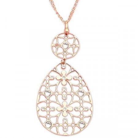 Collana in bronzo e cristalli Swarovski crystal