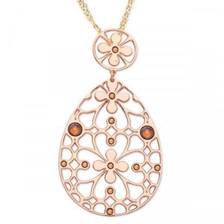 Collana in bronzo e cristalli Swarovski copper