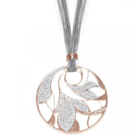 Collana in lamè e bronzo placcato oro rosa
