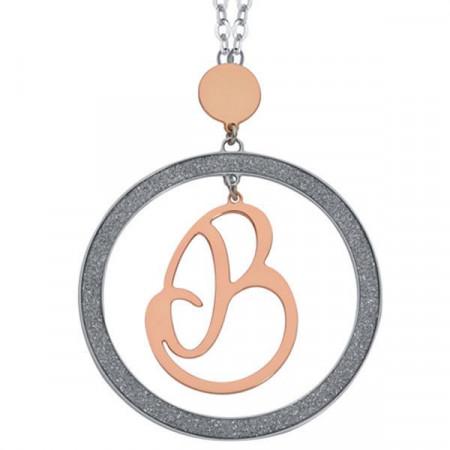 Collana con lettera B pendente grande