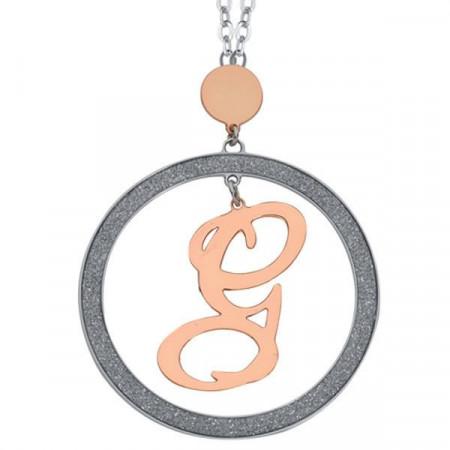 Collana con lettera G pendente grande