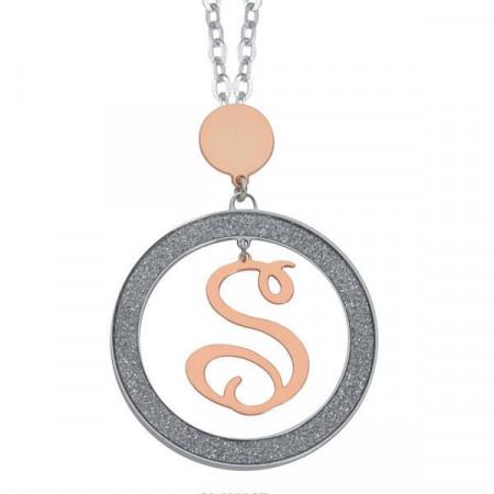 Collana con lettera S pendente piccolo