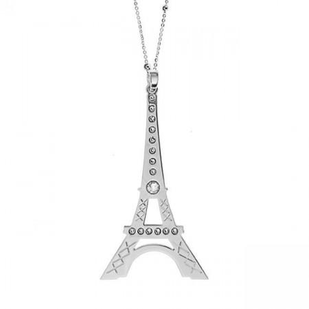 Collana con maxi pendente raffigurante la Tour Eiffel