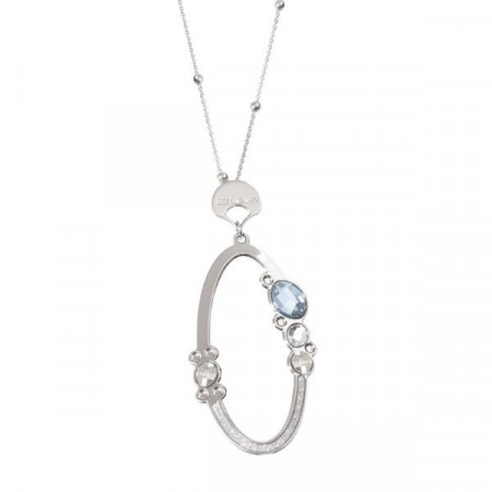 Collana con pendente ovale e cristalli Swarovski