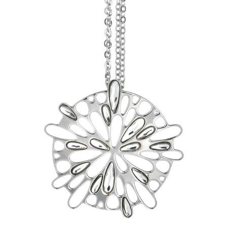 Collana con pendente circolare e cristalli Swarovski